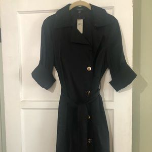 Trench style dress